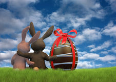 Bunnies at Easter Stock Photography