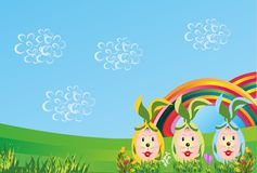 Bunnies - Easter eggs, Royalty Free Stock Photos