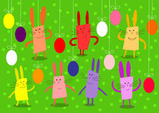Bunnies and eggs Royalty Free Stock Photos