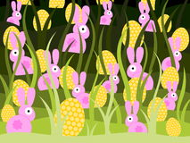 Bunnies and eggs Royalty Free Stock Photo