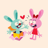 bunnies in love Stock Photos
