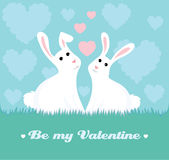 Bunnies in love Royalty Free Stock Photo