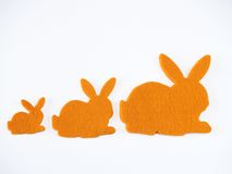 Bunnies shapes Royalty Free Stock Photo
