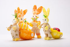 Bunnies team Stock Photos