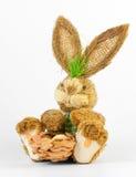 bunny ανασκόπησης λευκό Πάσχα&s Στοκ εικόνες με δικαίωμα ελεύθερης χρήσης