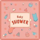 bunny ανασκόπησης μωρών χαριτωμένο floral κείμενο ντους καρτών Στοκ Εικόνα