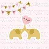 bunny ανασκόπησης μωρών χαριτωμένο floral κείμενο ντους καρτών ελεύθερη απεικόνιση δικαιώματος