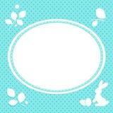 bunny αυγά Πάσχας καρτών Στοκ εικόνα με δικαίωμα ελεύθερης χρήσης