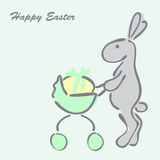 bunny αυγό Πάσχας Στοκ Φωτογραφίες