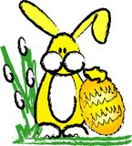 bunny αυγό Πάσχας Στοκ φωτογραφία με δικαίωμα ελεύθερης χρήσης