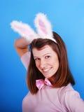 bunny αυτιά playgirl προκλητικά Στοκ φωτογραφία με δικαίωμα ελεύθερης χρήσης