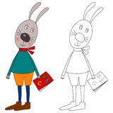 bunny βιβλίων χρωματισμός Στοκ Φωτογραφία