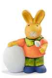 bunny ζωηρόχρωμο Πάσχα Στοκ φωτογραφίες με δικαίωμα ελεύθερης χρήσης