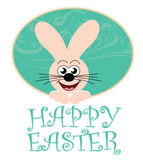 bunny κάρτα Πάσχα ευτυχές Στοκ φωτογραφία με δικαίωμα ελεύθερης χρήσης