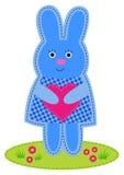 bunny καρδιά Στοκ φωτογραφία με δικαίωμα ελεύθερης χρήσης