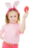 bunny κορίτσι αυγών αυτιών λίγο ροζ Στοκ Εικόνα