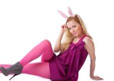 bunny κορίτσι αυτιών στοκ εικόνες