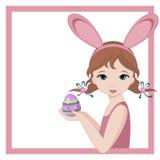 bunny κορίτσι Πάσχας Στοκ Εικόνες