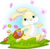 bunny κρύψιμο αυγών Πάσχας Στοκ εικόνες με δικαίωμα ελεύθερης χρήσης