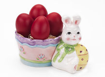 bunny κόκκινο αυγών Πάσχας Στοκ Εικόνες