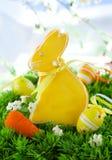 bunny μπισκότο Πάσχα Στοκ Εικόνες