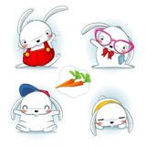 bunny μωρών χαριτωμένο τα κουνέλια μητέρων εκμετάλλευσής της Στοκ εικόνες με δικαίωμα ελεύθερης χρήσης