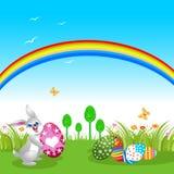 bunny ουράνιο τόξο Πάσχας Στοκ φωτογραφία με δικαίωμα ελεύθερης χρήσης