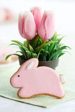 Bunny Πάσχας μπισκότο Στοκ εικόνα με δικαίωμα ελεύθερης χρήσης