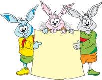 bunny Πάσχα ανακοίνωσης Στοκ Φωτογραφία
