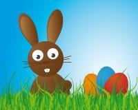 bunny Πάσχα ανασκόπησης ελεύθερη απεικόνιση δικαιώματος