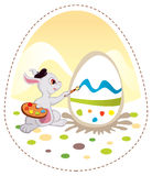 bunny Πάσχα γκρίζο Στοκ φωτογραφία με δικαίωμα ελεύθερης χρήσης