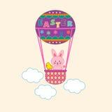 bunny Πάσχα μπαλονιών αέρα Στοκ Εικόνες
