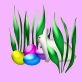 bunny Πάσχα τέχνης Στοκ Εικόνες