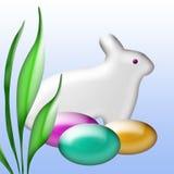 bunny Πάσχα τέχνης Στοκ φωτογραφία με δικαίωμα ελεύθερης χρήσης