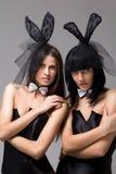 bunny πορτρέτο κοριτσιών κινημ&al Στοκ φωτογραφία με δικαίωμα ελεύθερης χρήσης