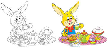bunny προγευμάτων Στοκ φωτογραφία με δικαίωμα ελεύθερης χρήσης