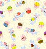 bunny πρότυπο ημέρας Στοκ Φωτογραφίες