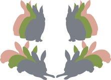 bunny σκιαγραφία Πάσχας Ελεύθερη απεικόνιση δικαιώματος