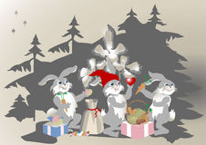 bunny τα δώρα ι αγάπη σας αγάπησ&al Στοκ φωτογραφίες με δικαίωμα ελεύθερης χρήσης