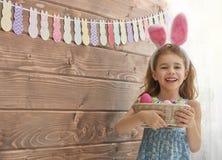 bunny φθορά κοριτσιών αυτιών Στοκ Εικόνες