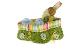 bunny φωλιά αυγών Πάσχας Στοκ φωτογραφίες με δικαίωμα ελεύθερης χρήσης