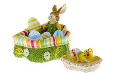 bunny φωλιά αυγών Πάσχας Στοκ Φωτογραφίες