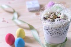 bunny χαιρετισμός Πάσχας καρτών Στοκ Εικόνα