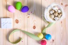 bunny χαιρετισμός Πάσχας καρτών Στοκ φωτογραφίες με δικαίωμα ελεύθερης χρήσης