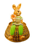 bunny χαριτωμένη συνεδρίαση Πάσχας Στοκ φωτογραφία με δικαίωμα ελεύθερης χρήσης