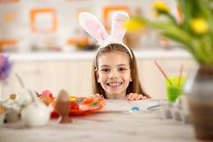bunny χαριτωμένο κορίτσι αυτιών Στοκ Εικόνες