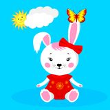 bunny χαριτωμένο κορίτσι απεικόνιση αποθεμάτων