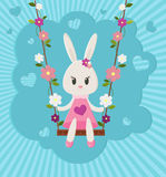 bunny χαριτωμένο Στοκ εικόνες με δικαίωμα ελεύθερης χρήσης