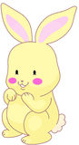 Bunny. A bunny smiling. cool for sticker Royalty Free Stock Images