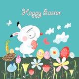 bunny Πάσχα ευτυχές Στοκ φωτογραφία με δικαίωμα ελεύθερης χρήσης